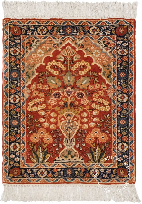 Indian Kashmir 2x2 Square Rug