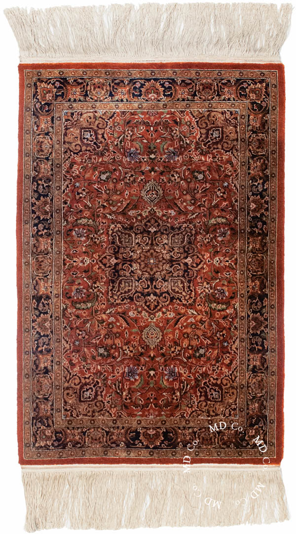 Indian Taj Silk 2x3 Rug