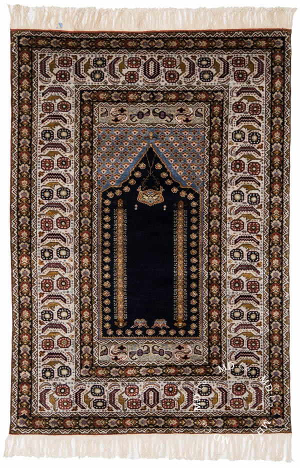 Hungarian Silk Prayer 4x6 Rug